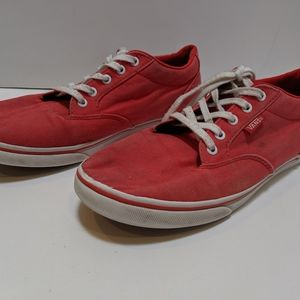 Vans red low pro skate shoes women's size 8.5